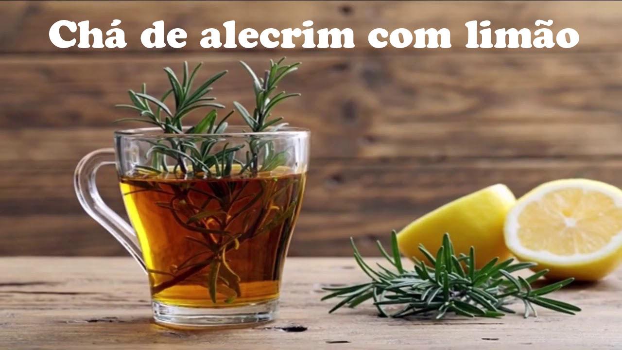 Chá de alecrim com limão
