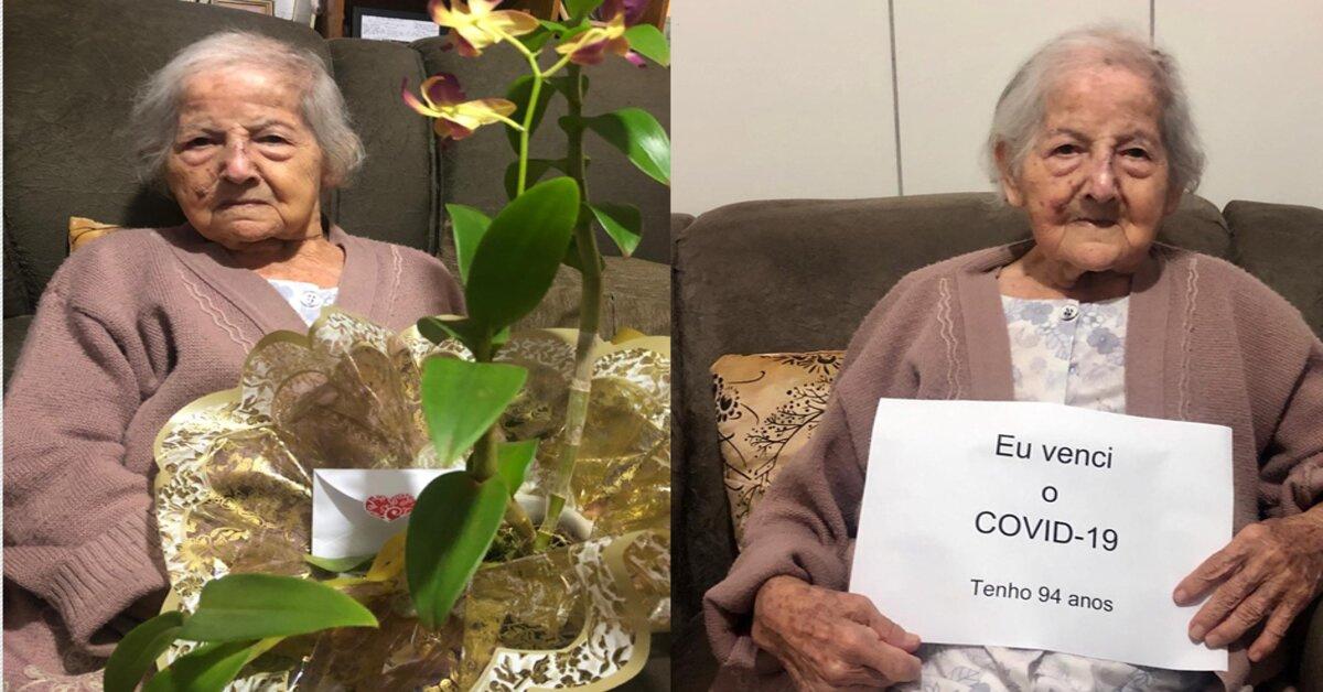 Idosa de 94 anos, vence a Covid-19