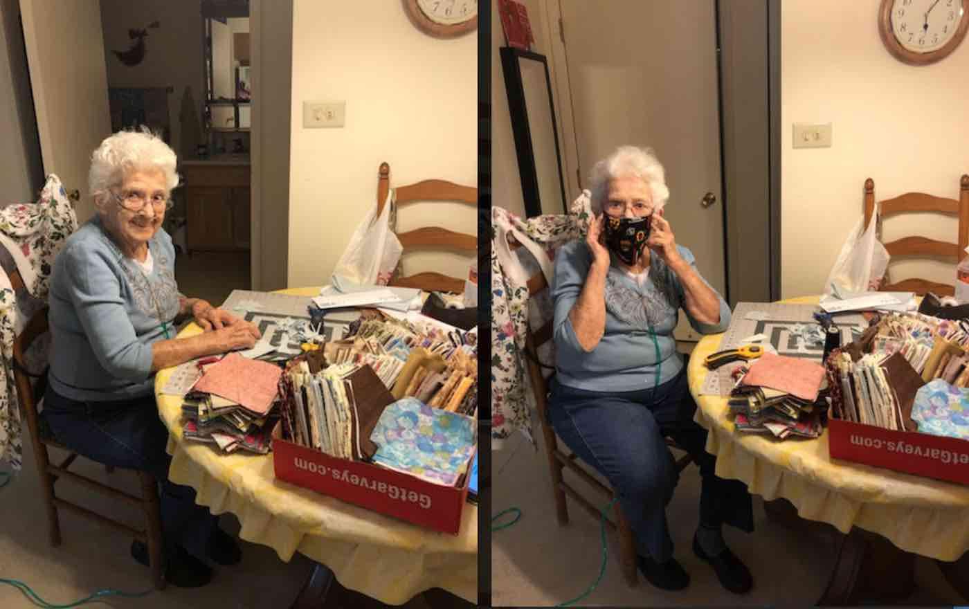 Mulher de 89 anos