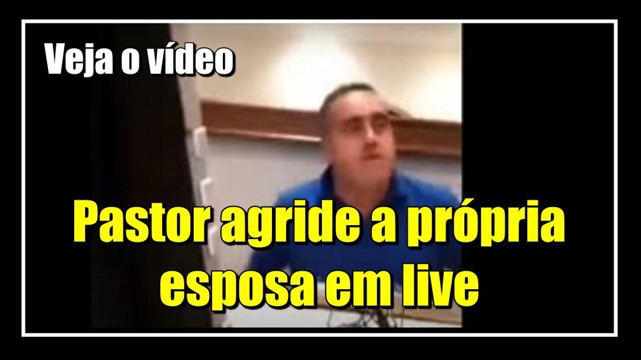 VÍDEO-Pastor-agride-a-mulher-durante-live