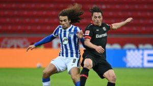 Número zero contra Hertha: salto falhado de Leverkusen